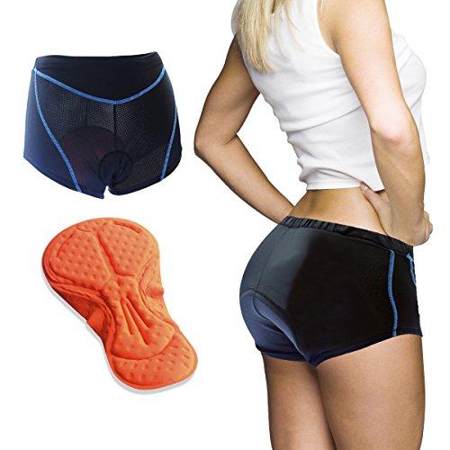 Baleaf Women S 3d Padded Cycling Brief Underwear Shorts