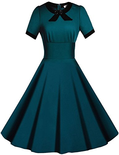 Ihot Women S 1950s Cap Sleeve Swing Vintage Party Dresses