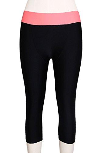 Zkess Womens Capri Pants Swim Legging Tankini Shorts