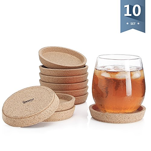 Flash Sale Dulce Cocina Cork Coasters Premium Set Of 8 Save Your Furniture Surface From Stains And Moisture By Durable Large Deep Tray That