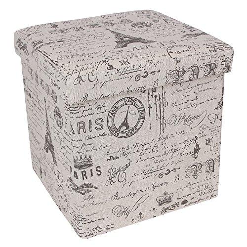 Songmics 15 X 15 X 15 Storage Ottoman Cube Footrest