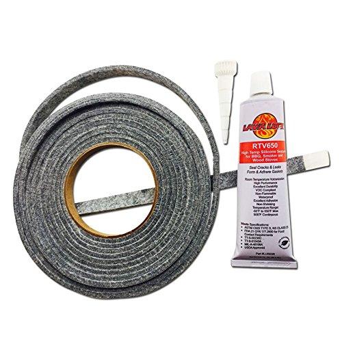 Smoker Sealer High Temp Bbq Gasket Amp Adhesive Smoker Lid